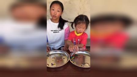 少儿:和姐姐一起玩泡大珠