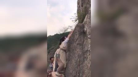 原来掉下悬崖是这样拍出来的,我怎么觉得有点尴尬呢
