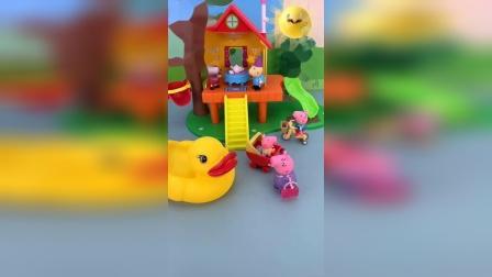 鸭妈妈要带小鸭子去玩,结果鸭宝宝哪去了?