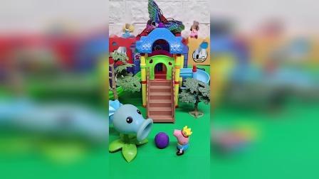玩具故事:乔治想和植物炮手一起玩。
