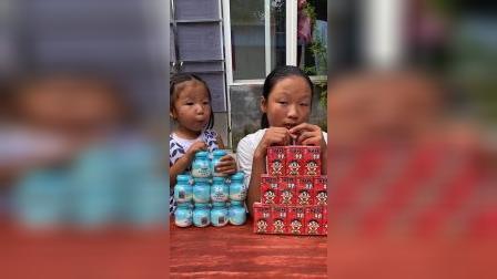 童年趣味:妹妹在喝什么奶?