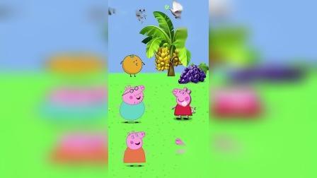 猪爸爸一家有喜欢吃的水果,小朋友快来看看