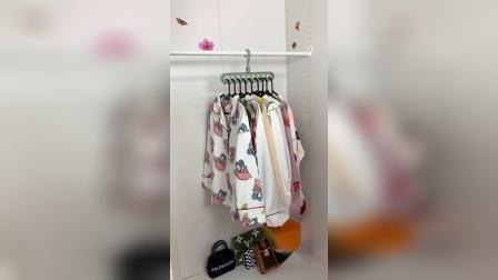 开箱:难怪城里人的衣柜那么整齐,原来是用了这个九孔衣架