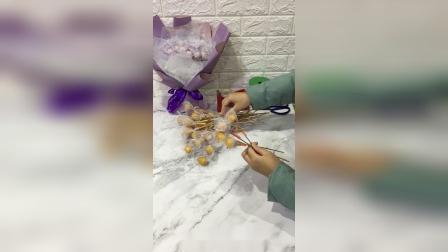 33颗棒棒糖花束包装教程