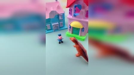 佩奇乔治家的新房子,看着真的很好看啊,都是猪爸爸猪妈妈买的?