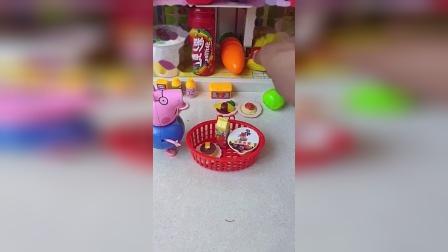 猪爸爸猪妈妈一起去超市呢,猪爸爸想要买啥呢,猪妈妈喜欢吃啥?