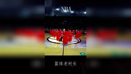 篮网主场啦啦队,惊现中国元素舞蹈