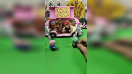 大家变小后,终于可以坐车里啦!