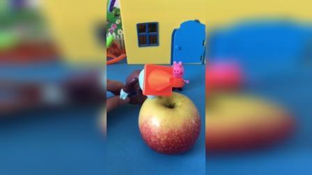 佩奇要开始吃苹果了,结果小鬼想要抢走