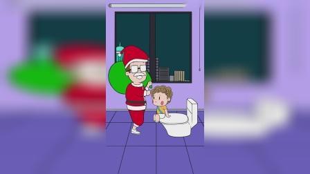 面膜妈妈:圣诞老人是从马桶里钻出来的?