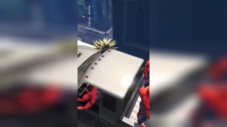 蜘蛛侠:小黄人被车撞倒了