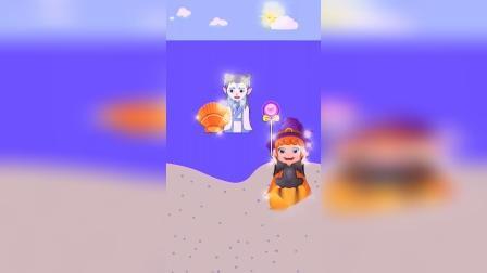 儿童动画:敖丙送哪咤的礼物