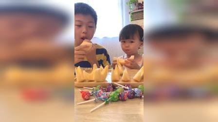 亲子游戏:小五我们来吃瓜了好不好