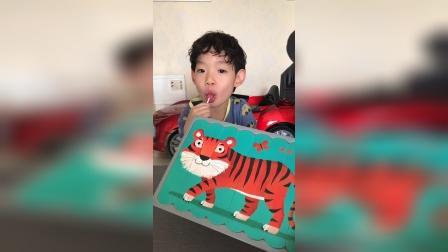 大老虎也喜欢吃棒棒糖