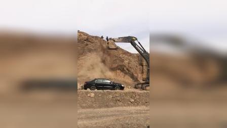 山体滑坡砸中轿车,原来电视是这么拍摄的!