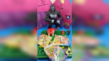 小小趣味玩具故事,大猩猩和果冻