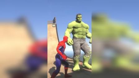 蜘蛛侠敢单挑绿巨人,这是什么滑稽的操作呢?