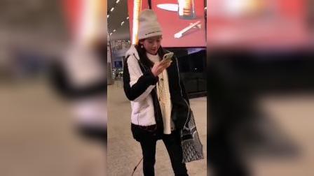 袁冰妍最新视频,带着白色帽子好可爱啊,想念可爱璇玑