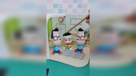 大头看到两个小头爸爸,大头考验爸爸,聪明的大头辨别了真爸爸