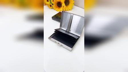 开箱:有了这个不锈钢卡包,可以收纳驾驶证等各种卡片