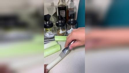 开箱:以前我以为葱丝只能手切没想到有切丝神器