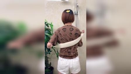 开箱:姐夫给买的天然丝瓜瓤搓澡巾,真的太舒服了