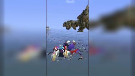 趣味游戏:迪迦竟然这么强?还能驯服霸王龙?