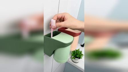 开箱:磁吸牙刷杯,倒置起来干净卫生#好物推荐