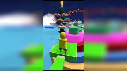趣味游戏:海绵宝宝来跳绳啦