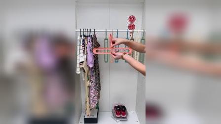 开箱:九孔衣架可折叠设计,挂的多还节省空间,家庭必备