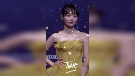 段奥娟淡黄的长裙,现在也太美了吧!