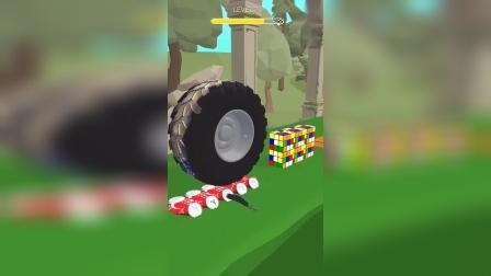 小游戏:这应该是大货车的轮子吧