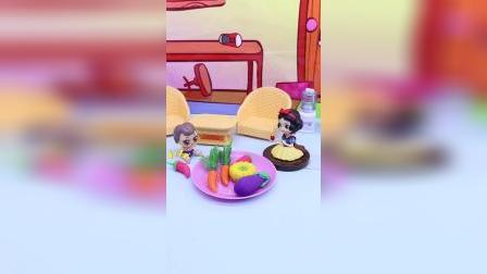 白雪教 小宝认识蔬菜,竟把胡萝卜误认为是辣椒!