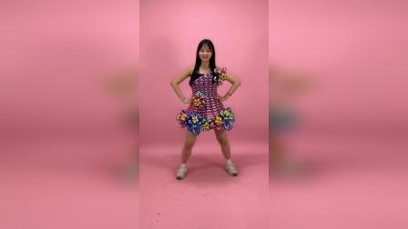 穿上气球做的裙子不但能跳舞,做什么都行