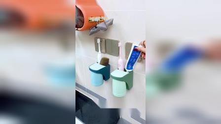 磁吸牙刷杯,用起来特别方便