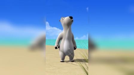 搞笑动漫:倒霉熊想要摘椰子,但是这也太搞笑了