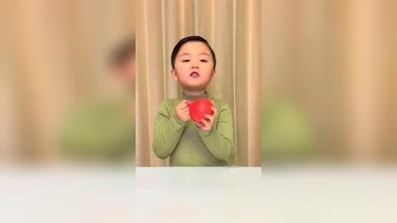 萌娃趣事:长得像大苹果,其实是西红柿
