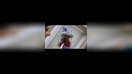 冬小麦立体刺绣教程-草莓