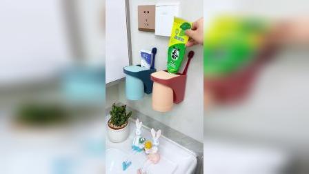 赶紧换上磁吸的牙刷杯吧,不留积水,干净又卫生