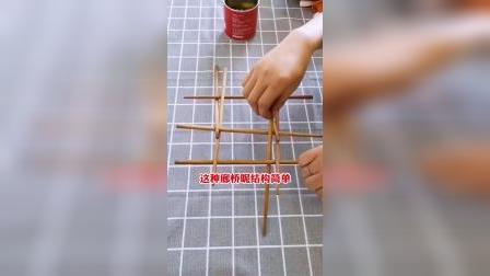 筷子搭桥小游戏,培养孩子的想象力!