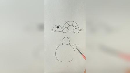 小高简笔画教程:小乌龟的画法教程来了
