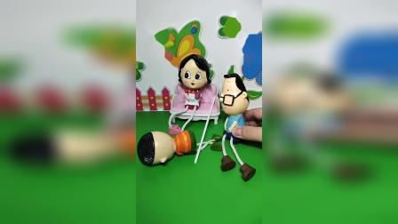 益智玩具:大头儿子被妈妈打了