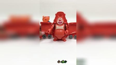 熊出没之熊大变形车,益智玩具