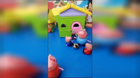 猪爸爸被猪妈妈套路,原来又要去买衣服,猪爸爸都头大!