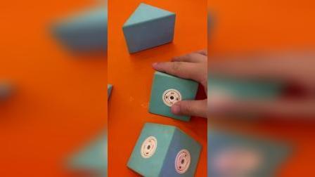 亲子游戏,教宝宝拼一个正方形