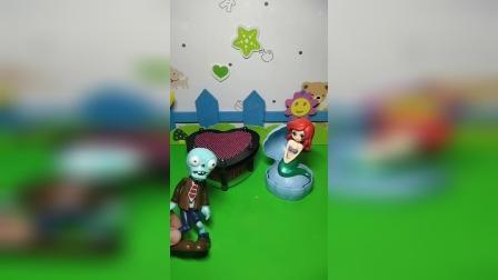 益智玩具:小美人鱼的床好厉害啊可以实现愿望