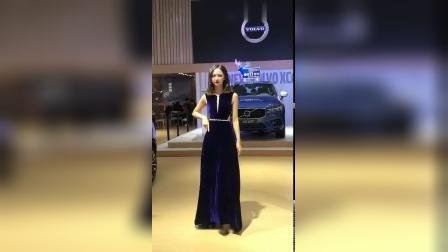 2018沈阳国际车展:沃尔沃汽车模特美女车模