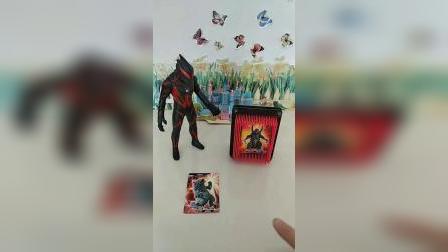 赛罗奥特曼就是厉害,把两个怪兽封印在卡片里了!