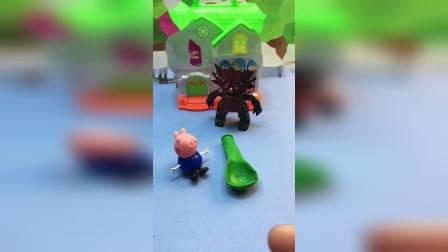 怪兽费尽九牛二虎之力,也没能吹起气球,要愿赌服输哦!