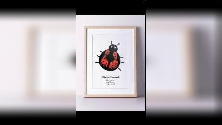 超级简单又可爱的瓢虫脚印画,快快动起来吧